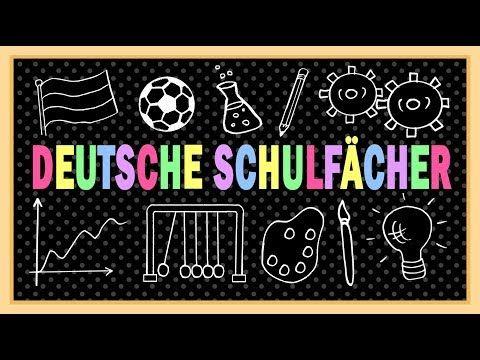 Deutsch Lernen Schule Schulfacher German Lesson Intermediate School Subjects A2 B1 B2 Youtube Deutsch Lernen Schule German Lesson