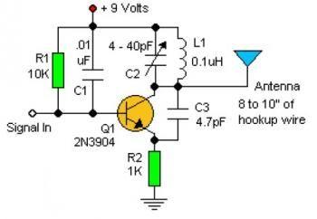 rf oscillator circuit with 2n3904