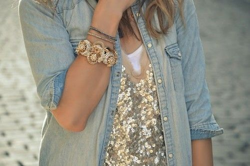 Sequins and denim - Love!