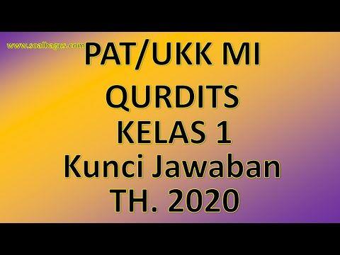 Latihan Pat Mi Kelas 1 Mata Pelajaran Qurdis Al Qur An Hadits Quran Qur An Kurikulum