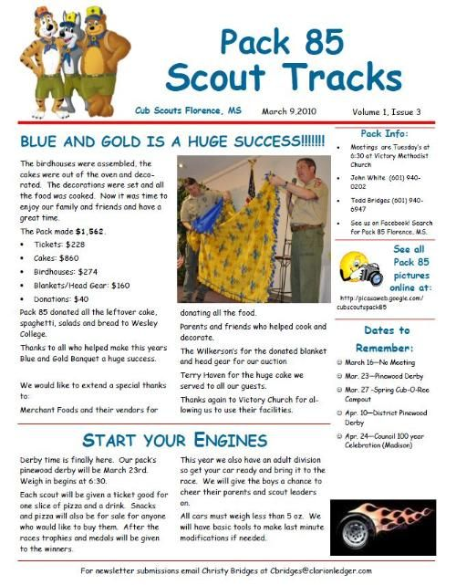Boy Scout Troop Newsletter Custom Template  Newsletters