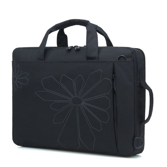 "14 Inch Contour Flowers Floral Print Laptop Computer Briefcase Messenger Shoulder Bag Carrying CaseMaterial High quality Waterproof NylonFits up to 14"" laptopsAdjustable / detachable ergonomic shoulder strap.Slim and lightweight; does not bulk your laptop up and can easily slide into your briefcase, backpack, or other bag"