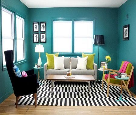 7+ cat ruang tamu hijau turquoise update 2020