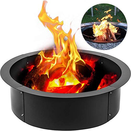 Buy Vbenlem Fire Pit Ring 45 Inch Outsidex 39 Inch Inside 3 0mm Thick Solid Steel Fire Pit Liner Diy Campfire Ring Above In Ground Outdoor Online In 2020 Steel Fire Pit Fire