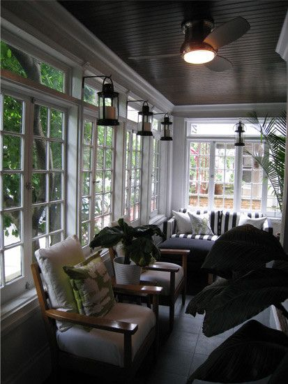 Like The Ceiling Windows Combo Porch Three Seasons Room Pinterest A 4 Decks And Seating Areas
