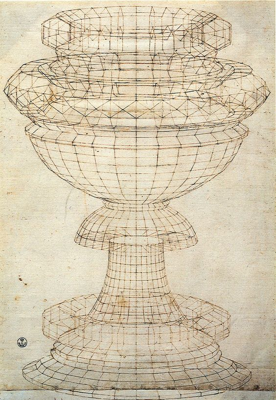 Paolo Uccello's perspective drawing for a chalice