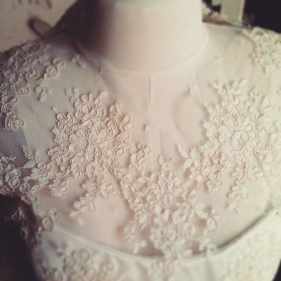 Details of my Alençon #lace wedding dress #tbt #handmade #couture