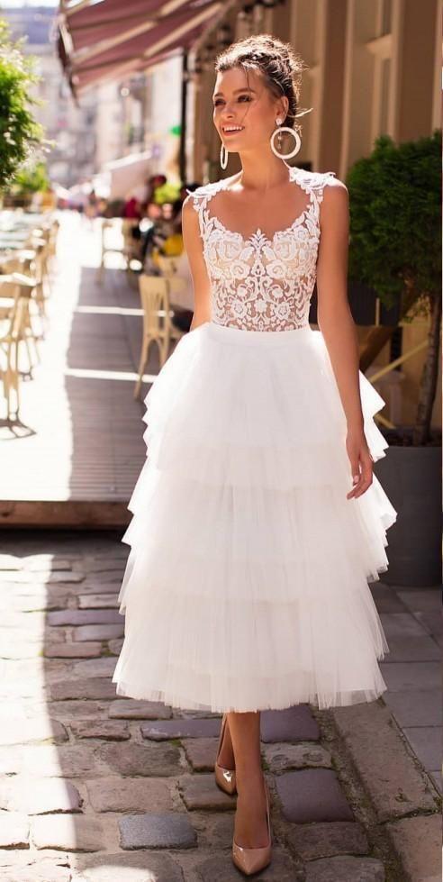 Little White Dress 2020 Lastest Designer Beach Wedding Dresses