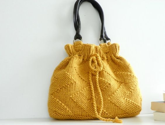 Mustard Knit bag! Love it!