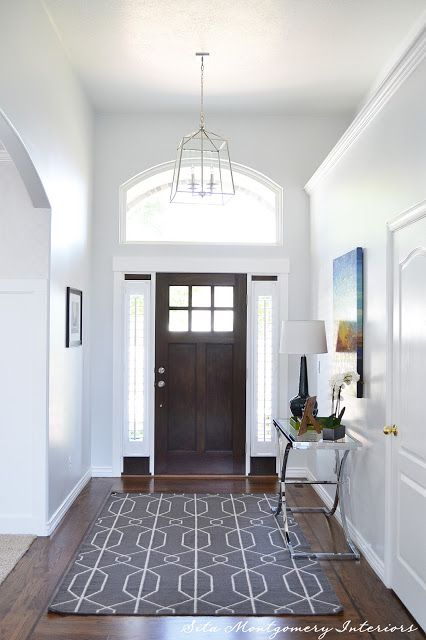 Modern Family Foyer : Local client project reveal bright and modern family room