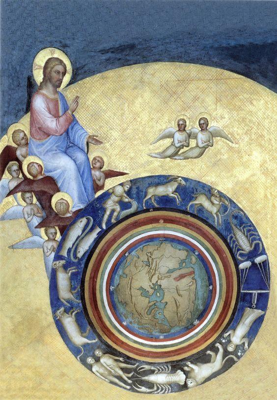 Giusto de' Menabuoi - La Création du monde: Christ Chronocator (c. 1370). [x]: