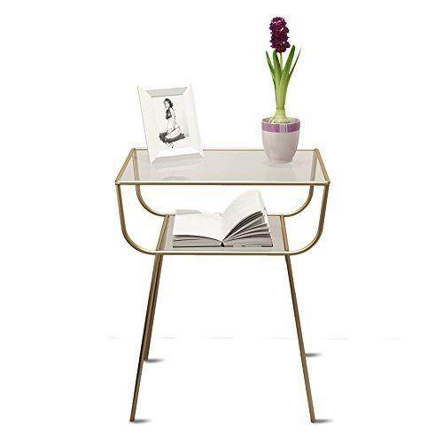 Pm Nightstands Jiayouba Bedside Table Nordic Modern Creative Simple Metal Glass Desktop Wrought Iron Rack Metal Sofa Modern Bedside Table Bedside Table Nordic