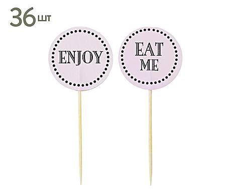 Miss Etoile: Набор бумажных Кейк топпингов   Enjoy и Eat me