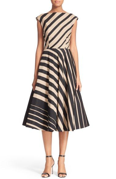 Tracy Reese Multidirectional Fit & Flare Dress available at #Nordstrom