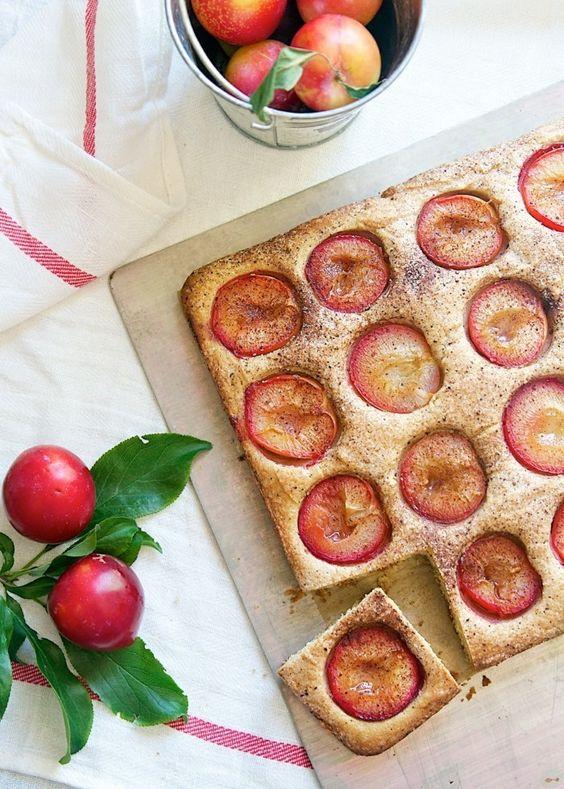 glutenfreier kuchen gesunder pflaumen kuchen backen zu hause