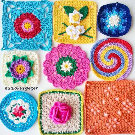 """Entel Dantel İşler  no Instagram: """"Yapılışları etiketlediğim kişilerin sayfalarında var. #grannysquare #crochet #örgü #motif #gramorgu #knitting"""""""