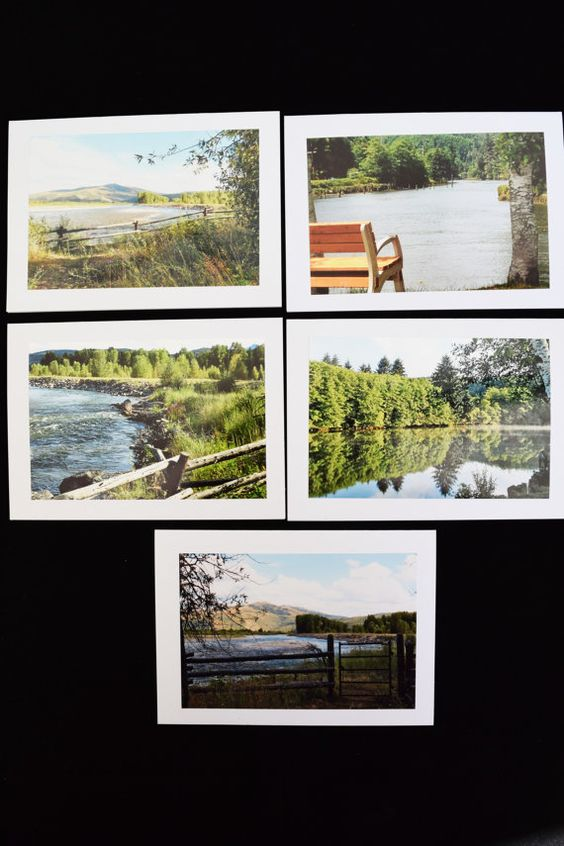Rivers & Lakes Photo Cards Set of 20 Rivers by MitchiesGalleria