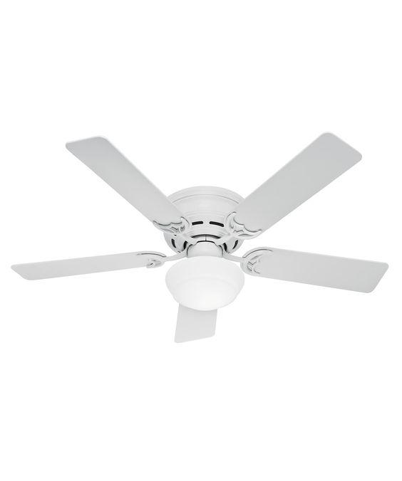 Hunter Fan 53075 Low Profile III Plus Energy Smart 52 Inch Flush Mount Fan With Light Kit | Capitol Lighting 1-800lighting.com