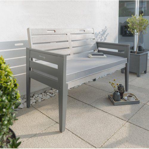 Osier Wooden Bench Lynton Garden Size 85 Cm H X 117 Cm W X 62 Cm