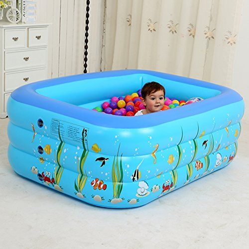Inflatable Swimming Pool Kid Marine Ball Pool Baby Home Bathe Toddlers Pool Square Inflatable Pool For Inflatable Swimming Pool Inflatable Pool Swimming Pools