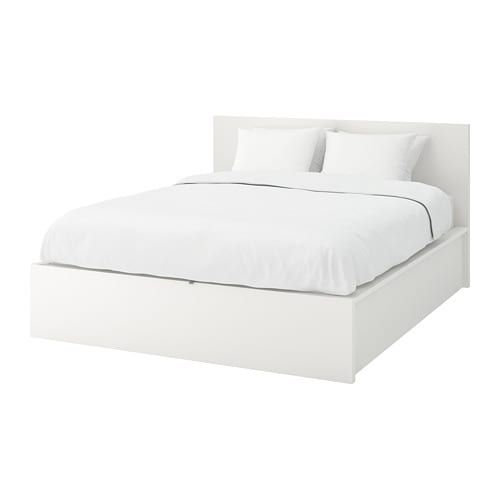 Malm Storage Bed White Full Double Ikea Malm Bed Ikea Bed