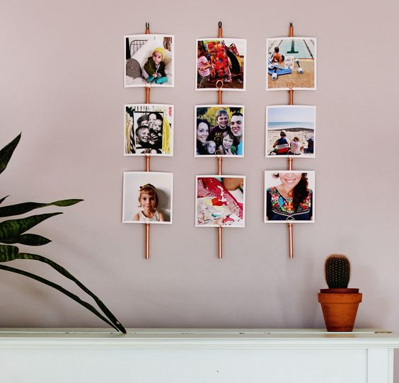 Create a gallery wall for your InstaThis prints and change them out as you please- by rachel denbow