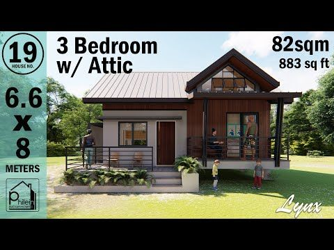 3 Bedroom Bahay Kubo With Attic 82sqm Modern Bahay Kubo Youtube Modern Filipino House Philippines House Design Modern Bungalow House