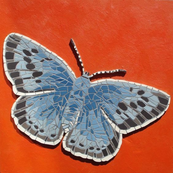 The Large Blue By Mosaic    'The Large Blue' (2013) Ceramic tiles. Rachel Evans Mosaics www.rachelevansmosaics.com