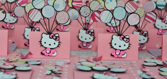 Invitaciones de Hello Kitty de Baby Shower