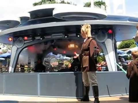 an old video of the kids at Disneyland in 2007 and at the Jedi Training Academy