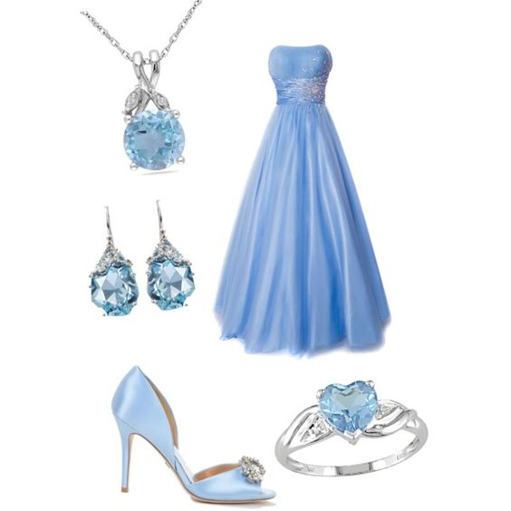 A fashion look from December 2014 featuring formal prom gowns, blue topaz heart ring and alexis bittar earrings. Browse and shop related looks.