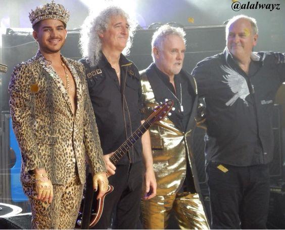 RT @ALAlwayz: Adam, Brian, Roger & Spike #QueenAdamLambertTour #merriweatherpostpavillion pic.twitter.com/3U18HtQHxl