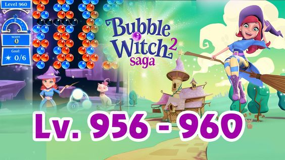 Bubble Witch Saga 2 Level 956 - 960 (1080p/60fps)