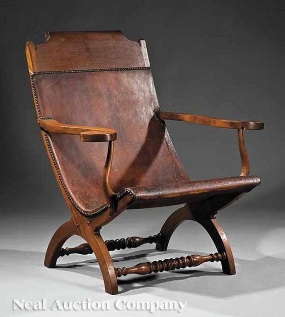 A Louisiana Walnut Campeche Chair Early 19th C Via Jonathan B Pons Mexique