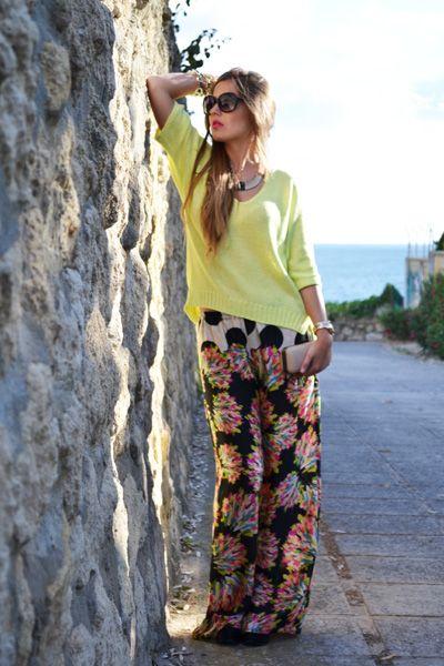 PRINTED WIDE TROUSERS | Mi aventura con la moda