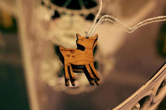 Daisy the Deer Laser Cut Wooden Necklace by CataCakeCreations, £11.00. https://www.etsy.com/listing/118946516/daisy-the-deer-laser-cut-wooden-necklace