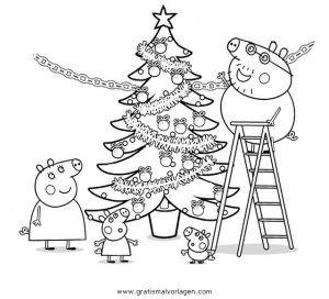 Peppa Wutz 43 Gratis Malvorlage In Comic Trickfilmfiguren Peppa Wutz Ausmalen Peppa Wutz Weihnachten Weihnachtsmalvorlagen Ausmalbilder Weihnachten