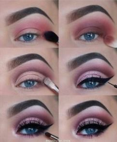 Maquillaje de noche rosa