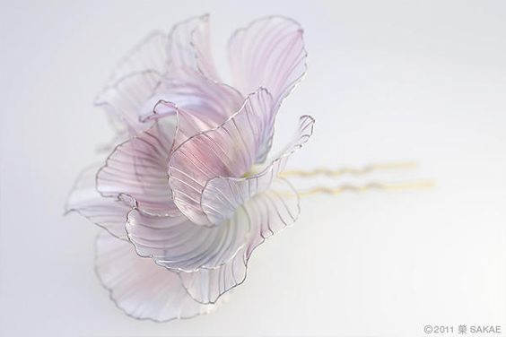 2011年 酔芙蓉 簪 についての画像:榮 - sakae - 簪作家