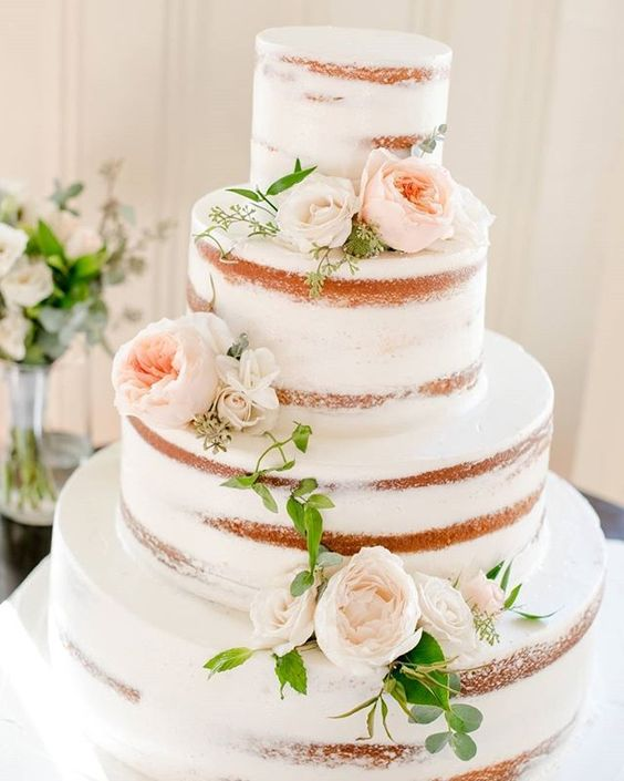 This naked cake should be wearing a sweater because #fall is here #sweaterweather