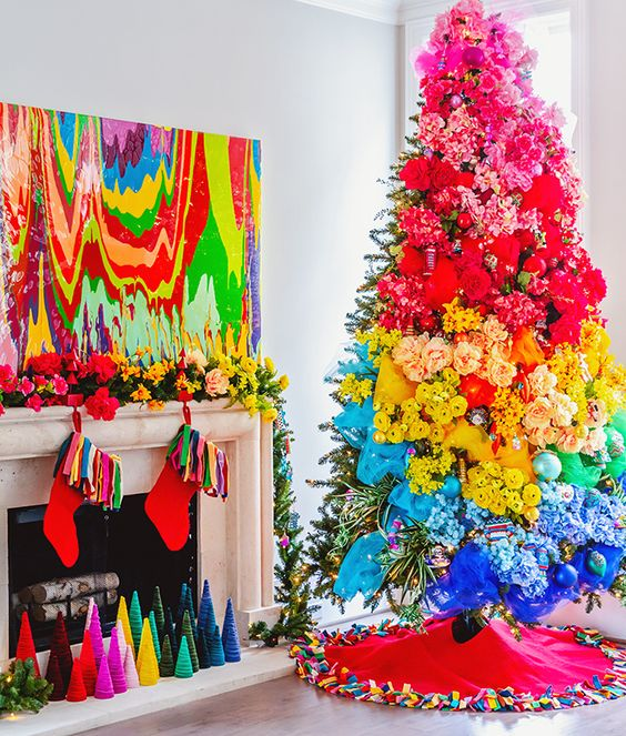 5 Ideas for Creating the Most Beautiful Rainbow Christmas - Carrie Colbert