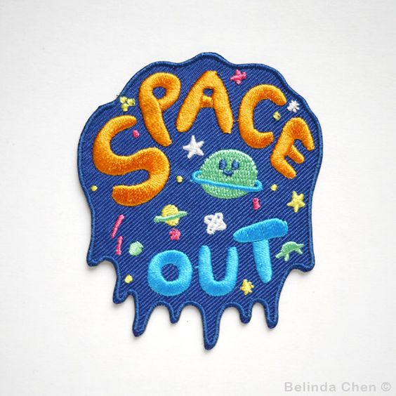 Space Out Iron On Patch by BelsArt on Etsy https://www.etsy.com/listing/243703214/space-out-iron-on-patch