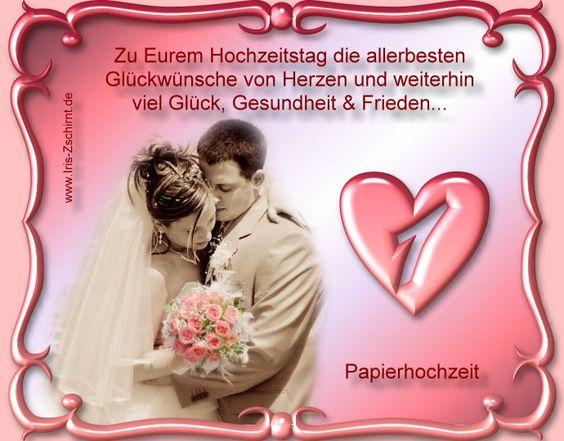 1 Hochzeitstag
