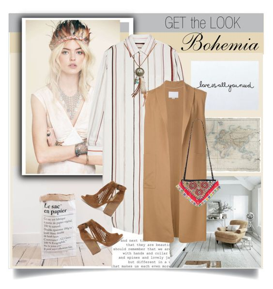 """Get The Look:Bohemia"" by rosalie45 ❤ liked on Polyvore featuring Maison Margiela, Laura Ashley, Alexander Wang, Wet Seal, Chinese Laundry and Helix & Felix"