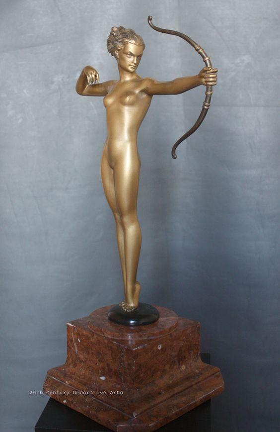 "An Art Deco bronze by Josef Lorenzl ""Diana"", Austria, circa 1930."