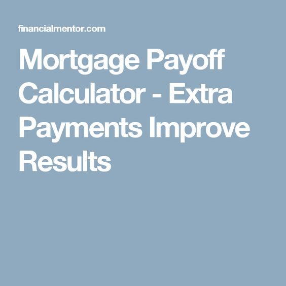 Mortgage Payoff Calculator - Early Payoff w/ Extra Payments