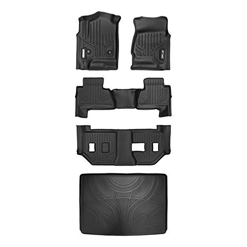 Smartliner Floor Mats 3 Rows And Cargo Liner Behind 3rd Row Set Black For 2015 2018 Suburban Yukon Xl With 2nd Row Bench Seat Car Accessories Online Marke Cargo Liner