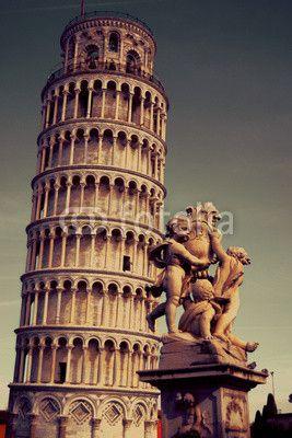 Torre di Pisa vintage e i Putti #microstock #marketing #webdesign #design #WebContent #SEO #csstemplates #css #HTML5 #Websites #web20k #web2014 #web