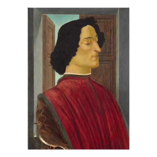 #Portrait of Giuliano de #Medici by #Botticelli #Invites