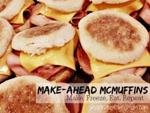 Grab 'n Go Freezer Egg McMuffin Sandwiches | Shaping Up To Be A Mom